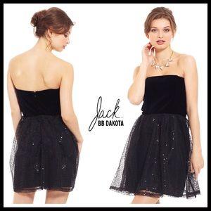 4503012dd40 JACK BY BB DAKOTA BLACK SEQUIN STRAPLESS DRESS A3C
